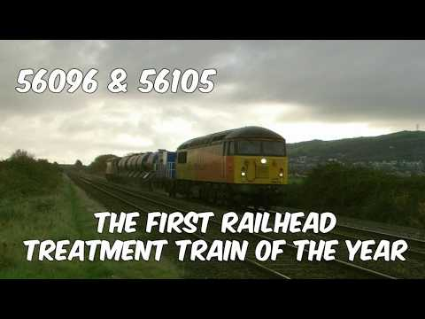 Colas Rail 56096 & 56105 on first RHTT of the season pass Pr…