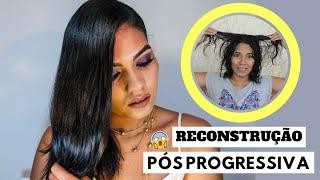 Reconstrução Power - cabelo com progressiva