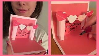 How to Make a Cute Homemade Pop Up Valentine