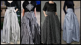 Fabulous And Outstanding Maxi Skirts Styles In Black And White Colours 2020/ New Maxi Skirts Ideas