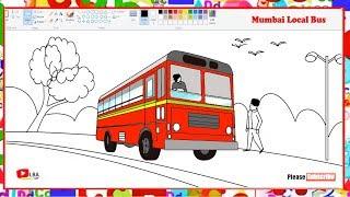 Bus Stand Drawing Easy म फ त ऑनल इन व ड य