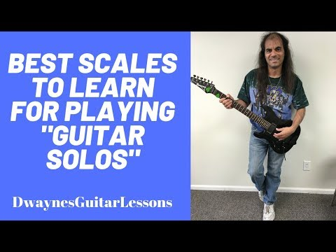 This video shows you what scales are best to get started playing guitar solos and becoming a Lead Guitar Wizard!