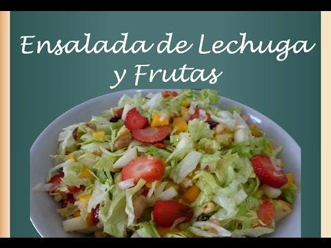 Ensalada De Lechuga y Frutas - Ensalada Saludable