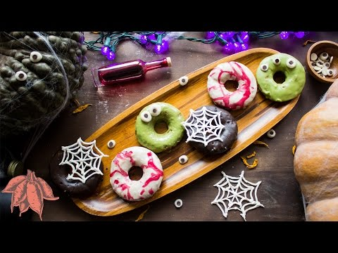 Halloween Sweet Potato Donuts | Spooky Vegan Collab with FabLunch