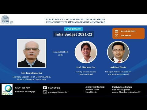 India Budget 2021-22  by Shri Tarun Bajaj,