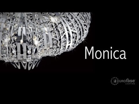 Video for Monica Chrome Six-Light 19.5-Inch Wide Flush Mount with Clear Crystal