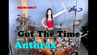[New] Anthrax - Got the Time drum-only (cover by Ami Kim) (#60-2)