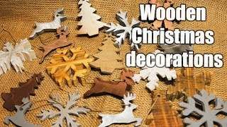 Wooden Christmas Decorations 2018 - DIY - Free Stencils