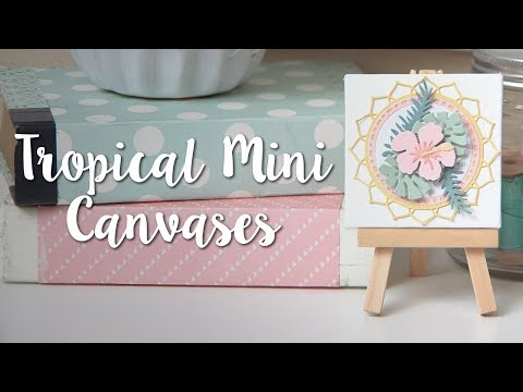 Tropical Mini Canvas DIY! Easy Decor Make