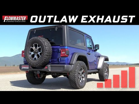 Flowmaster Outlaw Cat-back Exhaust System for 2018 Jeep Wrangler JL 2-Door - Part #817851