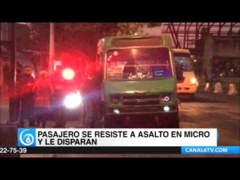Pasajero se resistió a asalto en micro y le dispararon en Iztacalco