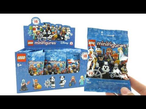 Lego 71024 Disney Minifiguren Serie 2 - Display Opening / Pack unboxing deutsch