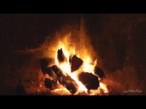 火劈裡啪啦的聲音舒緩的篝火篝火燃燒的壁爐