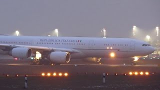 ITALIAN Air Force One Airbus A340-500 [I-TALY] Takeoff from Berlin Tegel Airport (TXL) [Full HD] | Kholo.pk