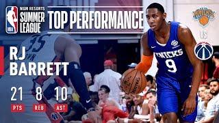 RJ Barrett Shines in Knicks Summer Finale | July 13, 2019