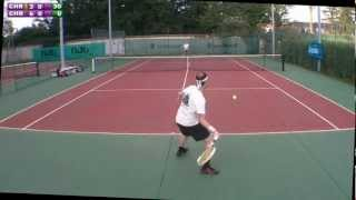 preview picture of video 'Christophe (15) vs Christophe (4/6) - 3e tour Mesnil St Denis - 2e set - 16/09/2012'