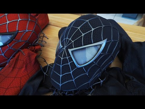 Spider-Man Introducing the Black Suit Symbiote Mask!