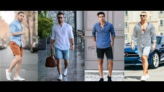 Mens Summer Casual Style Inspiration Lookbook | Mens Shirt & Short Pant Style 2019 | PBL