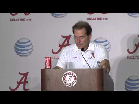Nick Saban reacts to Ole Miss loss in post game press conference