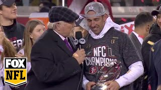 The San Francisco 49ers NFC Championship trophy ceremony   FOX NFL