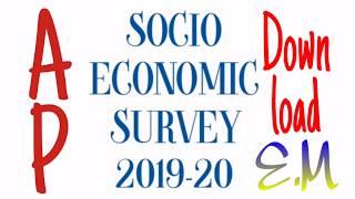 AP socio Economic Survey 2019-20 Downlaod