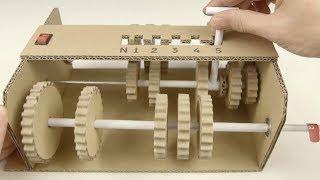 Коробка передач 5 скоростей своими руками из картона