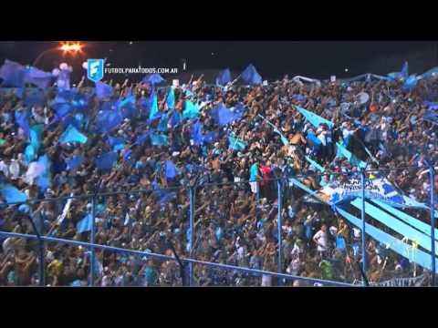 """""""El recibimiento del Gasolero. Temperley - Boca. Fecha 2. Primera División 2015. FPT"""" Barra: Los Inmortales • Club: Temperley"""