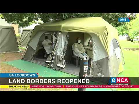 Land borders reopened