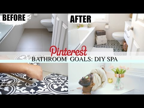 HOW TO UPGRADE YOUR  BATHROOM TO PINTEREST BATHROOM GOALS| HOME SPA EDITION 😍
