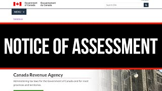 How to Download Tax Notice of Assessment from Canada Revenue Agency | CRA | PDF Document