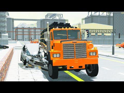 BeamNG Drive - Truck Apocalypse (Trucks crashes cars)
