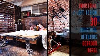 30 Industrial Interiors Bedroom Ideas