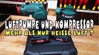 LIDL - PARKSIDE® Akku Kompressor PAK 20-Li A1 + Akku-Luftpumpe PALP 20-Li