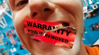 Safely Remove Warranty Stickers