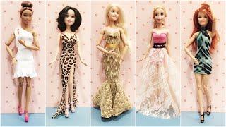 5 Easy DIY Barbie Doll Dresses 👗 Party Dress 👗 Prom Dress 👗
