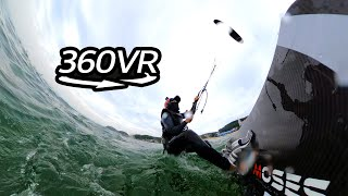 360° View l Extreme Sport Kiteboarding – Flying Over the Water [Action Man] Ep.24