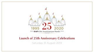 Launch Of 25th Anniversary Celebrations For Neasden Temple, London, UK