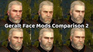 Geralt Face Mods Comparison
