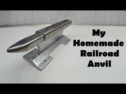 Making a Railroad Track Anvil