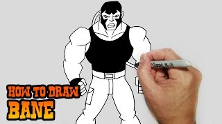 How to Draw Bane- Young Justice- Video Lesson
