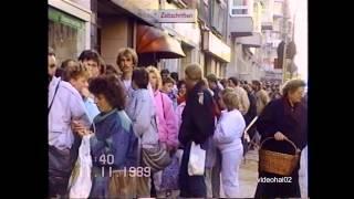 Das Begrüßungsgeld .Stundenlanges Anstehen für 100 DM Zeitgeschichte live 11.11.1989
