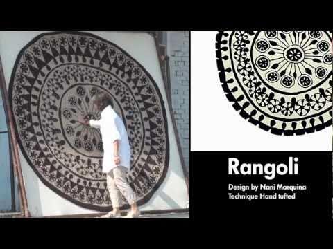Круглый ковер Rangoli