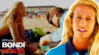 Lifeguards discover a woman collapsed on the shore of Bondi Beach suffering a suspected drug overdose. SUBSCRIBE - http://bit.ly/subscribebondirescue Buy Official Merch NOW - http://bit.ly/YTbondimerch  —  Bondi Rescue follows the work of the elite professional Lifeguards who patrol Australia's busiest beach. This is Australia's real life Baywatch! Taking the viewers on their journey through mass rescues, drownings, resuscitations, shark sightings, and all number of the weird and wonderful experiences Bondi Beach dishes up.   In #BondiRescue the audience sees the action through the eyes of real characters and lifeguards like Hoppo, Deano, Reidy, Jesse, Maxi, Whippet and Harries, as they catch thieves, perform CPR, make drug busts, break up fights, and even handle a navy bomb that washes ashore one afternoon. Every year throws up new and completely unexpected challenges, and how lifeguards adapt is what makes Bondi Rescue a show that's about much more than swimmers being saved in the surf.  SUBSCRIBE to Bondi Rescue to get the latest clips, behind the scenes info, real life rescues and MORE!  - Watch More -  Best of Bondi Rescue Compilations - https://www.youtube.com/playlist? list=PL0Xa58krD0jUE2iqve7Ij950q9FemyuFE Between The Flags: Bondi Rescue Live Streams - https://www.youtube.com/playlist?list=PL0Xa58krD0jUFxtsMRi3zo177jOi6JOfD Season 15 Clips - https://www.youtube.com/playlist?list=PL0Xa58krD0jV3JByaTkWJTccN43rOB4RG Season 14 Clips - https://www.youtube.com/playlist?list=PL0Xa58krD0jXWxUULRtlk-9TwNBvusoO- Season 13 Clips - https://www.youtube.com/playlist?list=PL0Xa58krD0jXecA4w-vpte7aMYeD6q9Zc Season 12 Clip - https://www.youtube.com/playlist?list=PL0Xa58krD0jUrwC4tna9oeUXid3TDBiM0 Best Rescues - http://bit.ly/bestrescues Close Calls and Near Deaths - https://bit.ly/2RBd3Z1 Worst Injuries - http://bit.ly/worstinjuries Hilarious Moments - http://bit.ly/hilariousevents Best Goofs - http://bit.ly/bestgoof Bondi's Lifeguards - http://bit.ly/bondilifeguards Saving