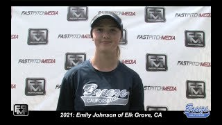 2021 Emily Johnson Shortstop Softball Skills Video