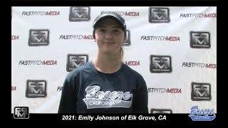 2021 Emily Johnson Shortstop Softball Skills Video