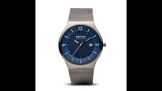 Bering Uhren Solar Ultra Slim Uhr | grau gebürstet | 14440-007