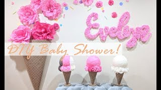 Our DIY Sprinkle Themed Baby Shower!