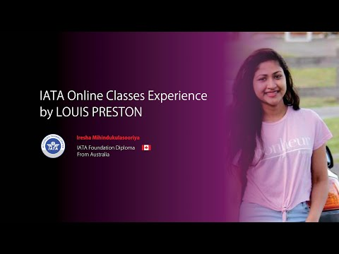 Student experience with Online classes for IATA ... - YouTube