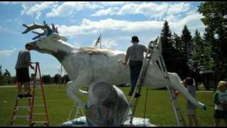 The World's Largest White Stag - Wrenshall, Minnesota