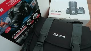 Canon 80D Unboxing Costco Bundle DSLR